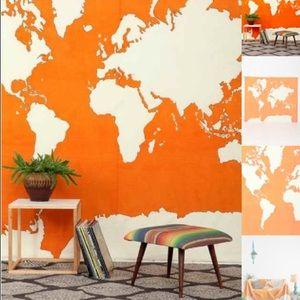 UO Orange Atlas Tapestry